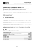 Pearson Edexcel Examinations - January 2015 - British Council