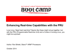 Enhancing Real-time Capabilities with the PRU - The Linux