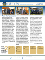 From the Headmaster - All Saints Anglican School