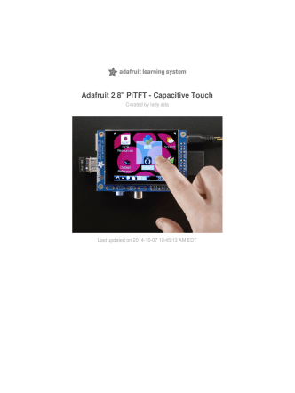 Adafruit 2.8 PiTFT - Capacitive Touch - Adafruit Learning System