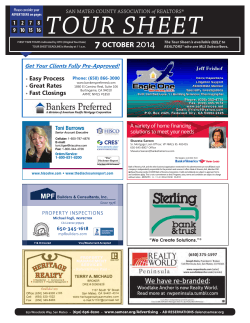 SAMCAR REALTORS Tour Sheet - San Mateo County Association