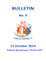 Nakhon Ratchasima, THAILAND - Asian Volleyball Confederation