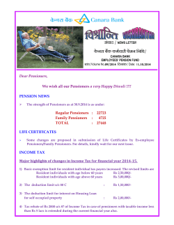 9. Vishranthi news letter volume no. 9/2014. - Canara Bank