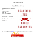 Download Beautiful You: A Novel pdf - Chuck Palahniuk - xpgpdf