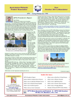APTA E-News October 2014 Edition now available for downloading.