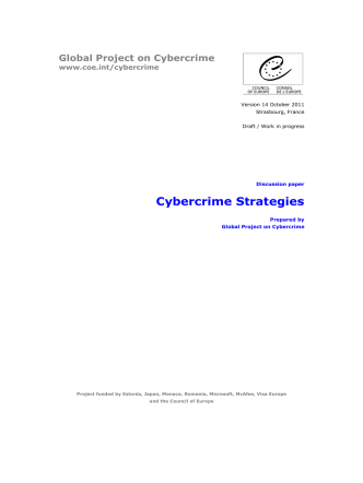 Cybercrime strategies - discussion paper - Council of Europe