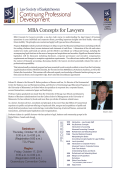 MBA Concepts for Lawyers - The Law Society of Saskatchewan