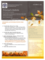 Principals Bulletin - St. Philips School