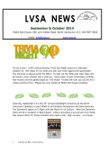 LVSA Newsletter September  October 2014 - Lynn Valley Seniors
