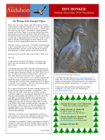 October - December Newsletter - Hoy Audubon Society