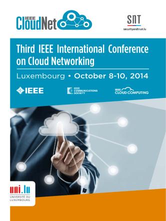 Brochure - IEEE CloudNet 2014