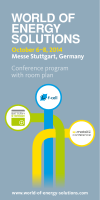 Das Konferenzprogramm zum Download - World of Energy Solutions