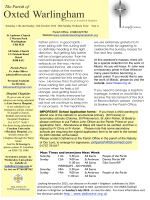 14_10_12 Newsletter - Oxted and Warlingham