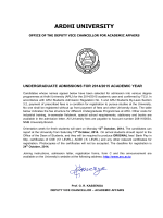 Undergraduate Admissions for 2014/2015 - Ardhi University
