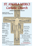 ST. ANGELA MERICI Catholic Church - E-churchbulletins.com