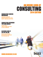 An Inside Look at Consulting, 2014 - Université Paris 13