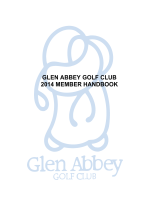 glen abbey golf club 2014 member handbook - The Country Club
