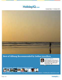 Download Alibaug Travel guide in PDF format - HolidayIQ
