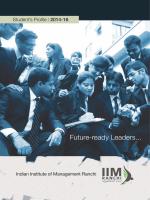 Class of 2014-16 - IIM Ranchi