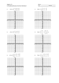 Algebra 2 YL Name 4.4 Graphing Piecewise Functions Worksheet