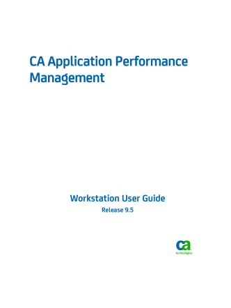 APM_9.5--Workstation User Guide - CA Technologies