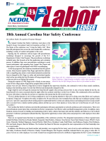 Labor Ledger Sept.-Oct. 2014 - NC Department of Labor