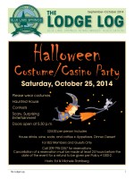 lodge log the - Blue Lake Springs Homeowners Association