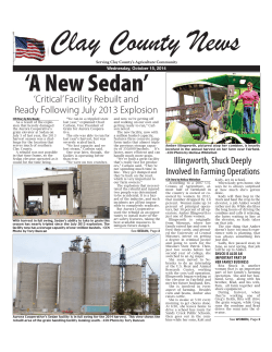 Clay County News Article on Sedans Facility Rebuild - Aurora