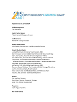 See Whos Attending in 2014! - Ophthalmology Innovation Summit