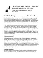 October 2014 - Manitoba Music Educators Association