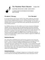 October 2014 - Manitoba Music Educators Association