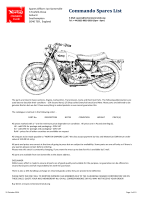 NORTON COMMANDO SPARES LIST - The Norton Owners Club