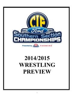2014/2015 WRESTLING PREVIEW - cifss