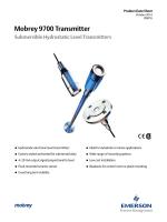 Mobrey 9700 Transmitter Submersible Hydrostatic Level Transmitters