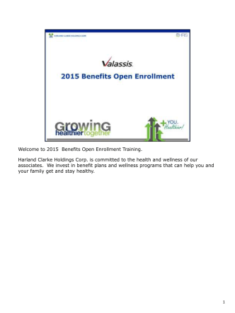 2015 Open Enrollment Presentation- English - ValassisBenefits.com