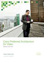 Cisco Preferred Architecture for Video - October 2014