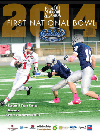 2014 First National Bowl Football State Championship Program