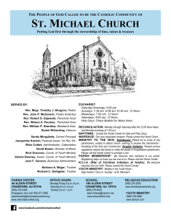 ST. MICHAEL CHURCH - E-churchbulletins.com