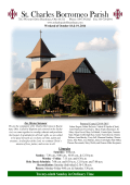 Bulletin - St. Charles Borromeo Parish, Boardman OH