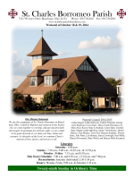 Bulletin - St. Charles Borromeo Parish, Boardman OH