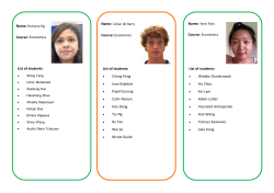 Your Peer guide allocation and their profile - Royal Holloway