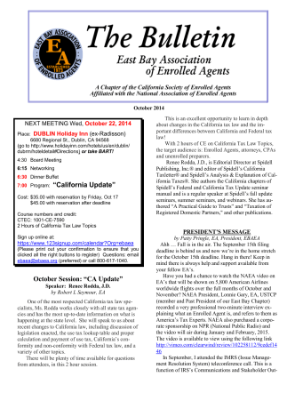 Current - East Bay Association of Enrolled Agents