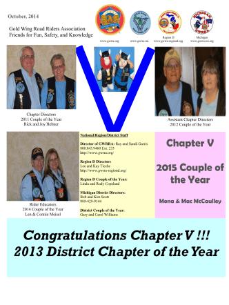 Chapter V Newsletter - GWRRA of Michigan