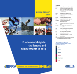 Fundamental rights: challenges and achievements in 2013 - Annual
