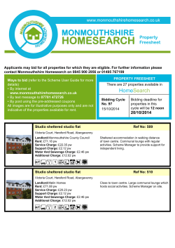 Monmouthshire Homesearch