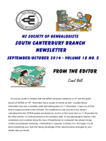 NZSG newletter - RootsWeb - Ancestry.com