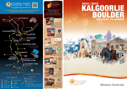 KBPG Holiday Planner 2014 - Australias Golden Outback
