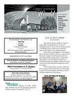 Newsletter - Christ Lutheran