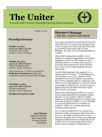 The Uniter - Unitarian Universalist Church of Urbana-Champaign