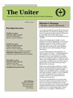 The Uniter - Unitarian Universalist Church of Urbana-Champaign